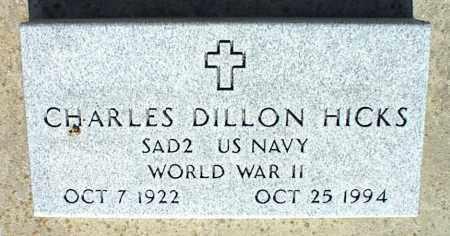 HICKS, CHARLES DILLON - Nowata County, Oklahoma | CHARLES DILLON HICKS - Oklahoma Gravestone Photos