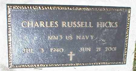 HICKS, CHARLES RUSSELL - Nowata County, Oklahoma | CHARLES RUSSELL HICKS - Oklahoma Gravestone Photos