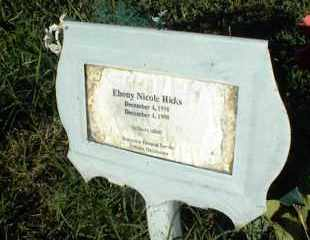 HICKS, EBONY NICOLE - Nowata County, Oklahoma | EBONY NICOLE HICKS - Oklahoma Gravestone Photos