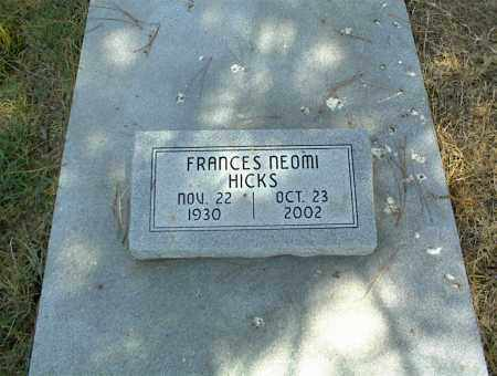 HICKS, FRANCES NEOMI - Nowata County, Oklahoma | FRANCES NEOMI HICKS - Oklahoma Gravestone Photos
