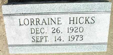 HICKS, LORRAINE - Nowata County, Oklahoma | LORRAINE HICKS - Oklahoma Gravestone Photos