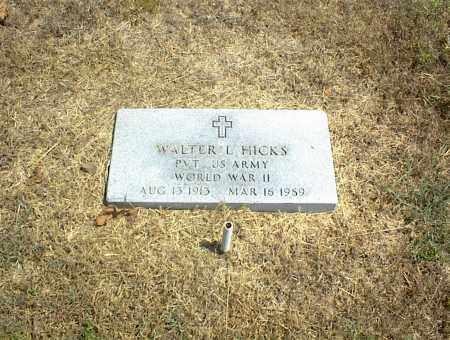 HICKS (VETERAN WWII), WALTER L. - Nowata County, Oklahoma | WALTER L. HICKS (VETERAN WWII) - Oklahoma Gravestone Photos