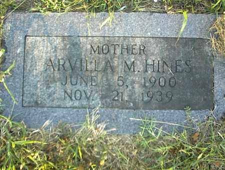 HINES, ARVILLA M. - Nowata County, Oklahoma   ARVILLA M. HINES - Oklahoma Gravestone Photos