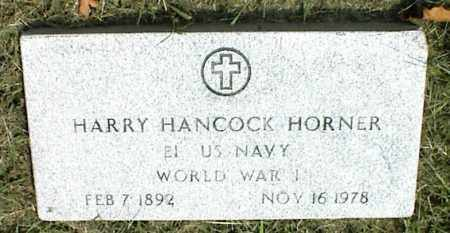 HORNER (VETERAN WWI), HARRY HANCOCK - Nowata County, Oklahoma   HARRY HANCOCK HORNER (VETERAN WWI) - Oklahoma Gravestone Photos