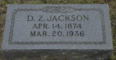JACKSON, D. Z. - Nowata County, Oklahoma | D. Z. JACKSON - Oklahoma Gravestone Photos