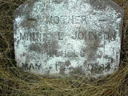 JOHNSON, MINNIE L. - Nowata County, Oklahoma | MINNIE L. JOHNSON - Oklahoma Gravestone Photos