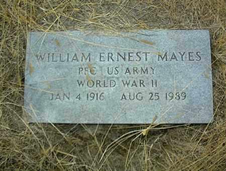 MAYES (VETERAN WWII), WILLIAM ERNEST - Nowata County, Oklahoma | WILLIAM ERNEST MAYES (VETERAN WWII) - Oklahoma Gravestone Photos