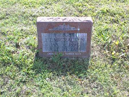 MCCRACKEN, J. T. - Nowata County, Oklahoma   J. T. MCCRACKEN - Oklahoma Gravestone Photos