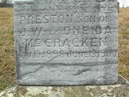 MCCRACKEN, PRESTON - Nowata County, Oklahoma | PRESTON MCCRACKEN - Oklahoma Gravestone Photos