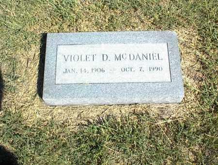 MCDANIEL, VIOLET D. - Nowata County, Oklahoma | VIOLET D. MCDANIEL - Oklahoma Gravestone Photos