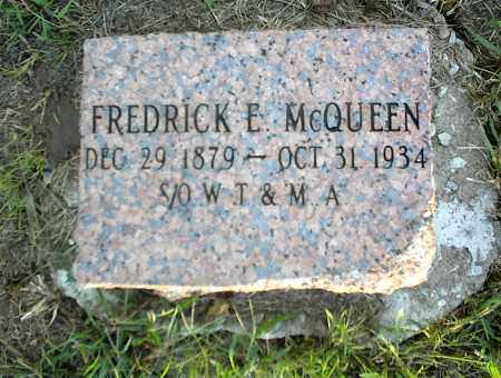 MCQUEEN, FREDRICK E. - Nowata County, Oklahoma | FREDRICK E. MCQUEEN - Oklahoma Gravestone Photos