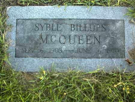 MCQUEEN, SYBLE - Nowata County, Oklahoma | SYBLE MCQUEEN - Oklahoma Gravestone Photos