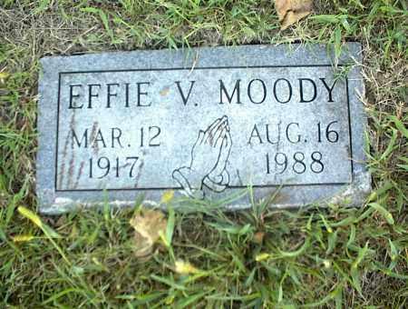 MOODY, EFFIE V. - Nowata County, Oklahoma | EFFIE V. MOODY - Oklahoma Gravestone Photos