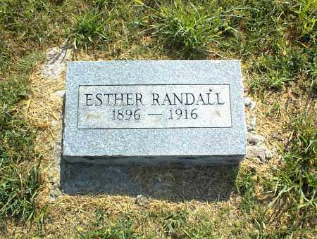RANDALL, ESTHER - Nowata County, Oklahoma | ESTHER RANDALL - Oklahoma Gravestone Photos