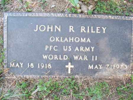 RILEY (VETERAN WWII), JOHN R - Nowata County, Oklahoma   JOHN R RILEY (VETERAN WWII) - Oklahoma Gravestone Photos
