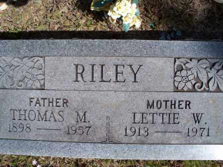 RILEY, THOMAS M. - Nowata County, Oklahoma | THOMAS M. RILEY - Oklahoma Gravestone Photos