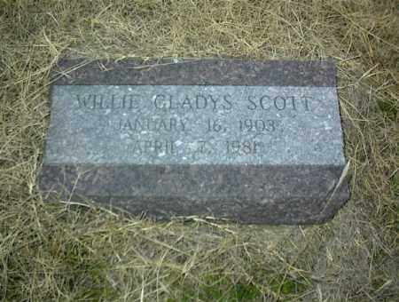 SCOTT, WILLIE GLADYS - Nowata County, Oklahoma | WILLIE GLADYS SCOTT - Oklahoma Gravestone Photos
