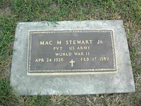 STEWART JR (VETERAN WWII), MAC M - Nowata County, Oklahoma | MAC M STEWART JR (VETERAN WWII) - Oklahoma Gravestone Photos
