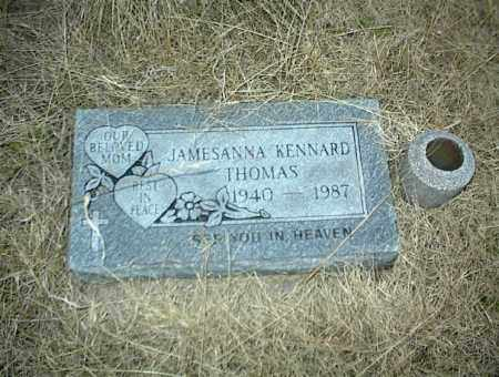 KENNARD THOMAS, JAMESANNA - Nowata County, Oklahoma | JAMESANNA KENNARD THOMAS - Oklahoma Gravestone Photos