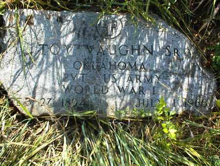 VAUGHN (VETERAN WWI), TOY SR. - Nowata County, Oklahoma | TOY SR. VAUGHN (VETERAN WWI) - Oklahoma Gravestone Photos