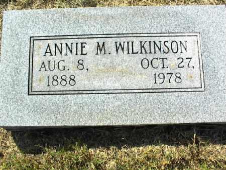 WILKINSON, ANNIE M. - Nowata County, Oklahoma | ANNIE M. WILKINSON - Oklahoma Gravestone Photos