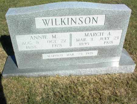 WILKINSON, MARCH A. - Nowata County, Oklahoma | MARCH A. WILKINSON - Oklahoma Gravestone Photos