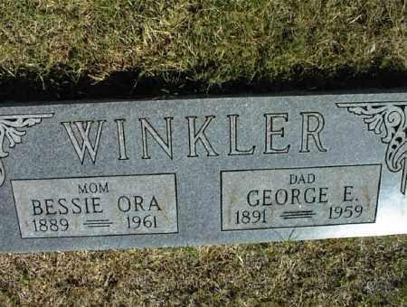 WINKLER, GEORGE E. - Nowata County, Oklahoma   GEORGE E. WINKLER - Oklahoma Gravestone Photos