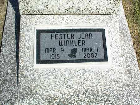 WINKLER, HESTER JEAN - Nowata County, Oklahoma | HESTER JEAN WINKLER - Oklahoma Gravestone Photos
