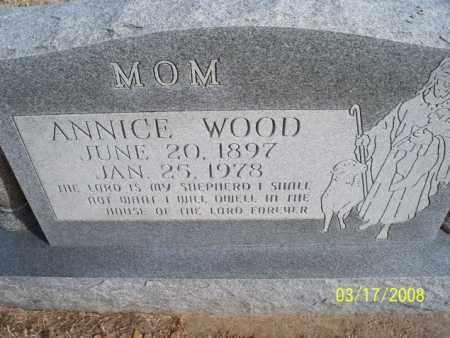 WOOD, ANNICE - Nowata County, Oklahoma | ANNICE WOOD - Oklahoma Gravestone Photos