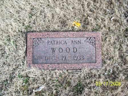 WOOD, PATRICA ANN - Nowata County, Oklahoma   PATRICA ANN WOOD - Oklahoma Gravestone Photos