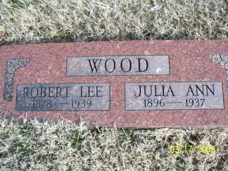 WOOD, JULIA ANN - Nowata County, Oklahoma   JULIA ANN WOOD - Oklahoma Gravestone Photos