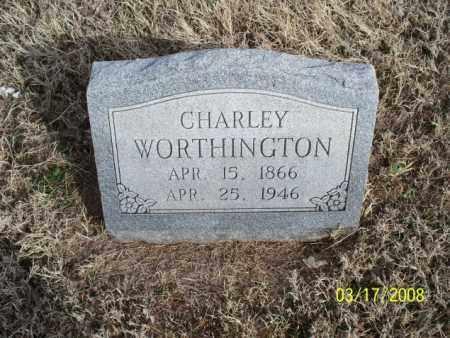 WORTHINGTON, CHARLEY - Nowata County, Oklahoma | CHARLEY WORTHINGTON - Oklahoma Gravestone Photos