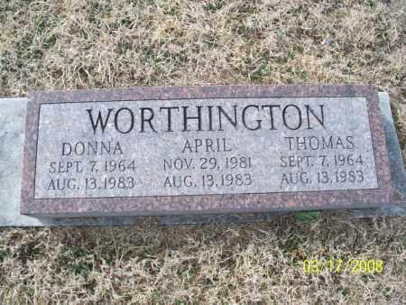 WORTHINGTON, DONNA - Nowata County, Oklahoma | DONNA WORTHINGTON - Oklahoma Gravestone Photos