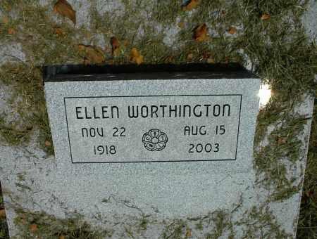 WORTHINGTON, ELLEN - Nowata County, Oklahoma | ELLEN WORTHINGTON - Oklahoma Gravestone Photos