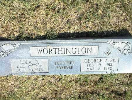 WORTHINGTON, GEORGE A. SR. - Nowata County, Oklahoma | GEORGE A. SR. WORTHINGTON - Oklahoma Gravestone Photos