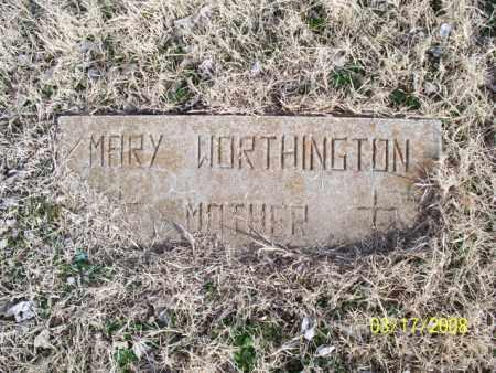 WORTHINGTON, MARY - Nowata County, Oklahoma   MARY WORTHINGTON - Oklahoma Gravestone Photos