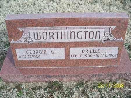 WORTHINGTON, ORVILLE L. - Nowata County, Oklahoma | ORVILLE L. WORTHINGTON - Oklahoma Gravestone Photos