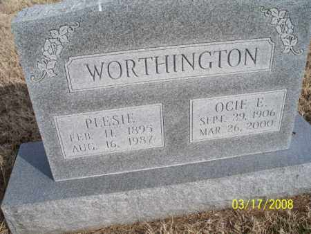 WORTHINGTON, PLESIE - Nowata County, Oklahoma | PLESIE WORTHINGTON - Oklahoma Gravestone Photos