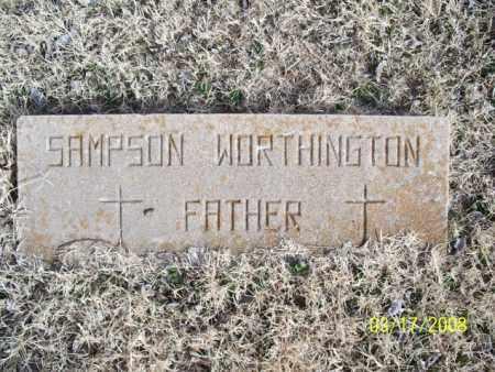 WORTHINGTON, SAMPSON - Nowata County, Oklahoma   SAMPSON WORTHINGTON - Oklahoma Gravestone Photos