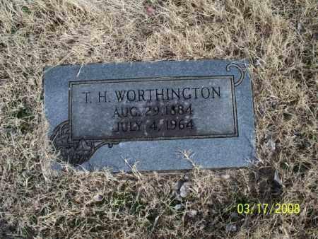 WORTHINGTON, T. H. - Nowata County, Oklahoma | T. H. WORTHINGTON - Oklahoma Gravestone Photos