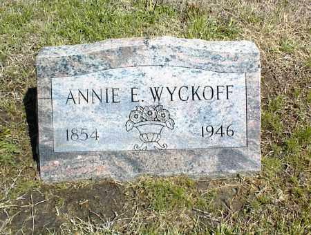 WYCKOFF, ANNIE E. - Nowata County, Oklahoma | ANNIE E. WYCKOFF - Oklahoma Gravestone Photos