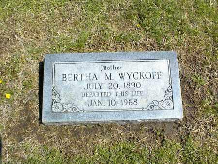 WYCKOFF, BERTHA M. - Nowata County, Oklahoma | BERTHA M. WYCKOFF - Oklahoma Gravestone Photos