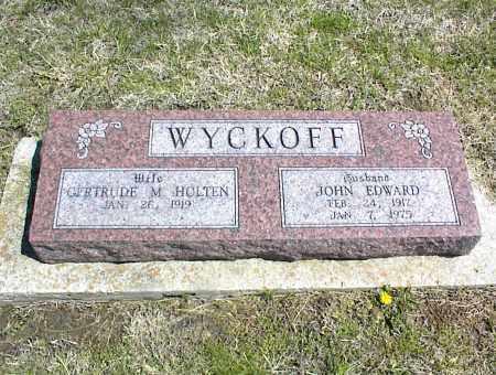 WYCKOFF, JOHN EDWARD - Nowata County, Oklahoma   JOHN EDWARD WYCKOFF - Oklahoma Gravestone Photos