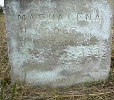 YODER, MAGDALENA H. - Nowata County, Oklahoma | MAGDALENA H. YODER - Oklahoma Gravestone Photos