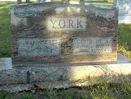 YORK, GERTRUDE A. - Nowata County, Oklahoma | GERTRUDE A. YORK - Oklahoma Gravestone Photos