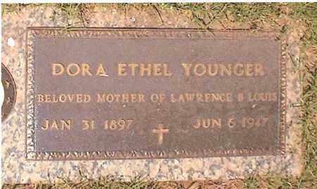 YOUNGER, DORA ETHEL - Oklahoma County, Oklahoma   DORA ETHEL YOUNGER - Oklahoma Gravestone Photos