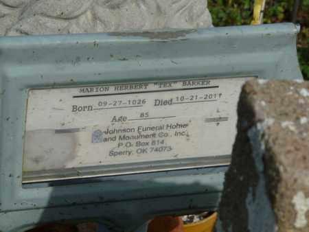 "BARKER, MARION HERBERT ""TEX"" - Osage County, Oklahoma   MARION HERBERT ""TEX"" BARKER - Oklahoma Gravestone Photos"