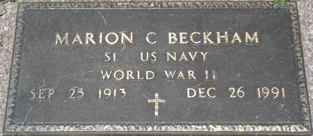 BECKHAM (VETERAN WWII), MARION C - Osage County, Oklahoma | MARION C BECKHAM (VETERAN WWII) - Oklahoma Gravestone Photos