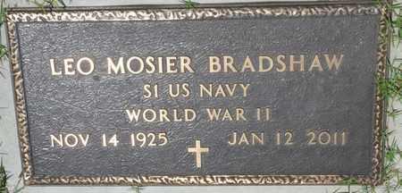 BRADSHAW (VETERAN WWII), LEO MOSIER - Osage County, Oklahoma | LEO MOSIER BRADSHAW (VETERAN WWII) - Oklahoma Gravestone Photos
