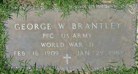 BRANTLEY (VETERAN WWII), GEORGE W - Osage County, Oklahoma | GEORGE W BRANTLEY (VETERAN WWII) - Oklahoma Gravestone Photos
